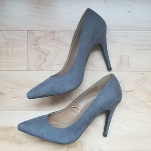 NWOT Dark Gray Suede Pumps Atmosphere, Size 7